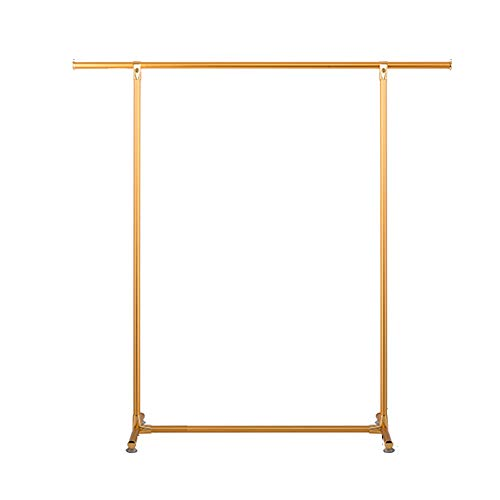 Yimaojia Single Rod Drying Rack Floor Simple Clothes bar Indoor Drying Rack Bedroom Cool Hanger Hanger Shelf (Color : Gold)