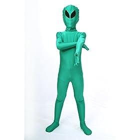 - 31d41XNQuxL - Halloween Costume ET Dress Up Alien Kids Zentaisuit Adult Lycra Spandex Bodysuit