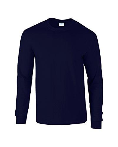 T Manches Marine À Coton Bleu Longues En Gildan shirt ZxTtTB