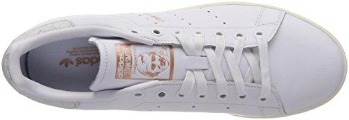 adidas Stan Smith, Baskets Femme Blanc (Footwear White/Footwear White/Copper Metallic 0)