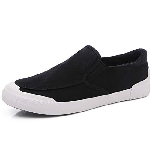 casual scarpe selvatici Scarpe tela da estate 43 tendenza di scarpe Color WangKuanHome uomo Black scarpe bordo Black traspirante uomo Size da tela di 6Pwdqvx