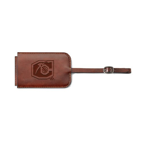 Cameron Fabrizio Brown Luggage Tag 'Official Logo Engraved' by CollegeFanGear
