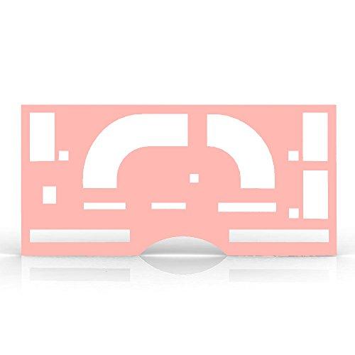 Candy Pink Gloss Gauge Cluster Dash Bezel Trim fits: 1986-1991 GMC S15 80 MPH - Ferreus Industries - BZL-137-Candy-Pink-009-05