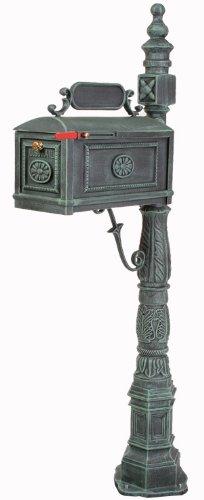 Barcelona Cast (Victorian Barcelona Decorative Cast Aluminum Better Box Mailbox Verde)
