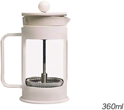 Cafetera francesa Presión de vidrio Olla de presión Olla de acero ...