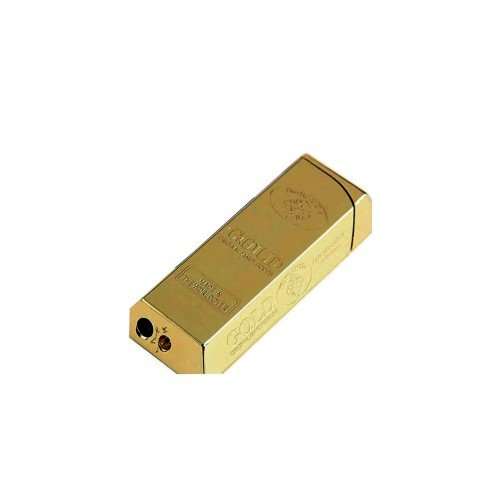 - S29 Gold Bar - Refillable Butane Torch Lighter -Single Flame- 2 1/2 Inch