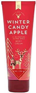 Candies Cream - Bath & Body Works Winter Candy Apple Ultra Shea Body Cream, 8 Ounce