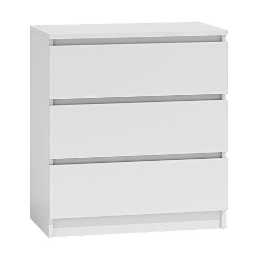 Kommode mit 3 Schubladen Sideboard Mehrzweckschrank Anrichte Diele Flur Esszimmer Wohnzimmer Weiß