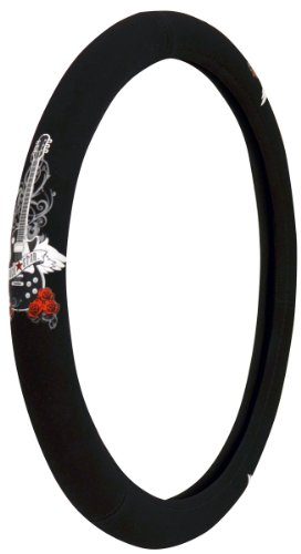Custom Accessories 35810 Black with Soft Touch RockStar Guitar Steering Wheel Cover