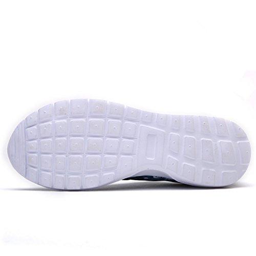 bevoker Light Weight Sports Shoes Women Men Breathable Rainbow Gym Fitness Running Shoes Unisex Light Blue AgbJStDgx