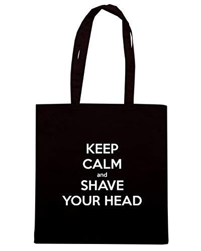 Nera KEEP SHAVE CALM TKC0302 HEAD YOUR Shopper AND Borsa qvw5z7pz