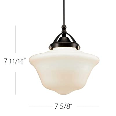 WAC Lighting G492 Milford White Glass Shade Only,
