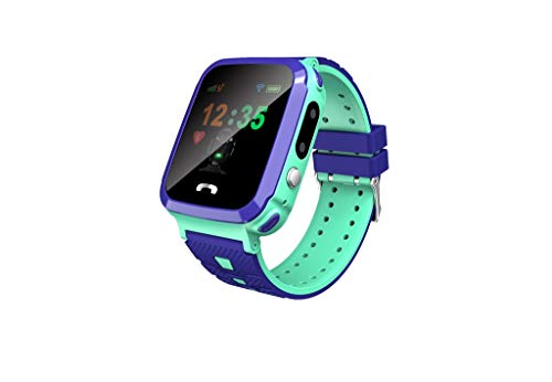 Eiowords 1.44 Inches Color TFT Screen Waterproof Children's Smart Watch Phone Tracker Positioning Smartwatch (Green)