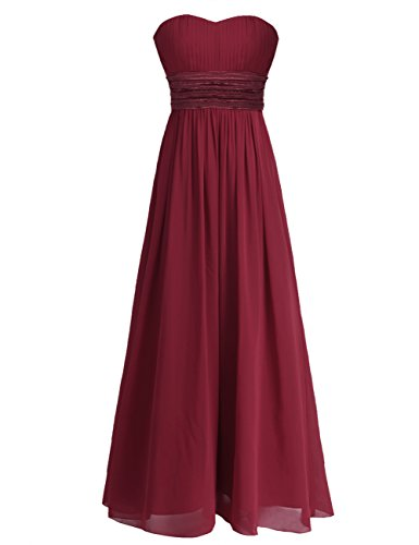 A Linie Damen burgunderfarben 34 Kleid 42 iiniim Bwq5Edq