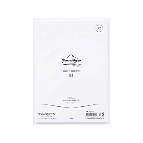 "Tomoe River FP Loose Sheet, 6.93 x 9.84"" (B5-size), 100 Sheets/Pack, White (TMR-B5P-W)"