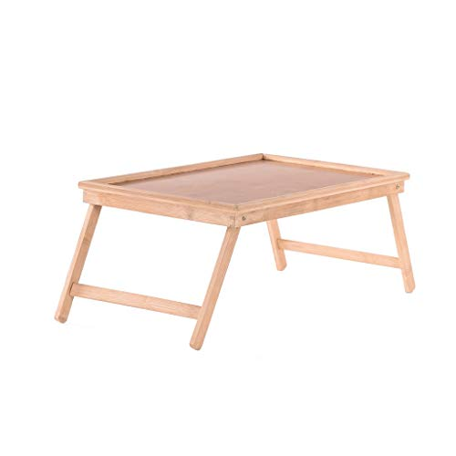 US Fast Shipment Quaanti Bamboo Foldable Breakfast Table,Laptop Desk,Bed Table,Serving Tray,Lap Table Bed Tray Table with Folding Legs,Laptop Computer Tray,Snack Tray,TV Tray Floor Table (A)