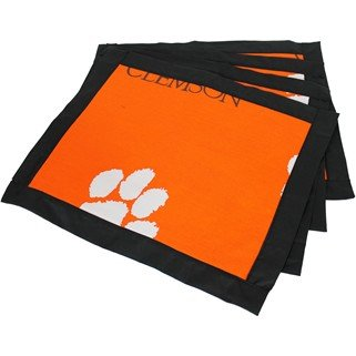 (Set of 12) - Clemson Tigers Placemats w/ border - Great for the Kitchen, or that Next Picnic or Tailgate Party! - Save Big By Bundling! -