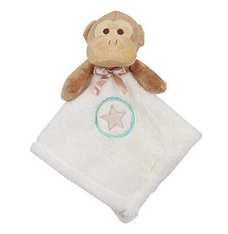 HUAIX Home Marioneta de Mano Juguetes de edredón para bebés Toalla de algodón Mono de Peluche Toy_Brown + White: Amazon.es: Hogar