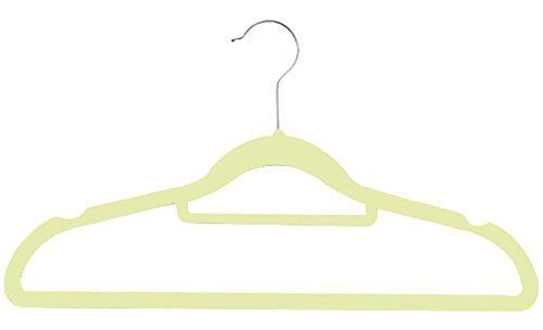 Zen Closet Ultra Thin Heavy Duty No Slip Velvet Suit Hangers with Tie bar 50 Pack Beige [並行輸入品] B07N8BHKK9