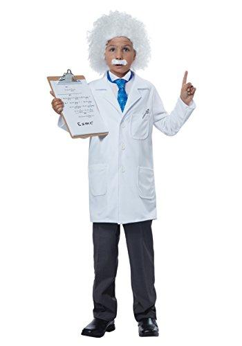 California Costumes Albert Einstein/Physicist Costume, Medium, White/Blue (Einstein Costume Wig)