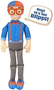 """Blippi Bendable Plush Doll, 16"""" Tall Featuring SFX - Squeeze The Belly to Hear Classic catchphrases - Fun, Edu"""