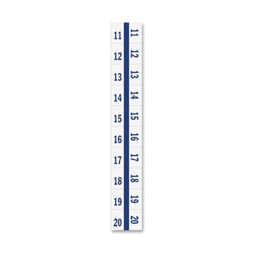 Tabbies Legal Index Divider Tabs - 10 x Tab - Printed11 - 20 - 8.50'' x 11'' - 100 / Pack - White Divider