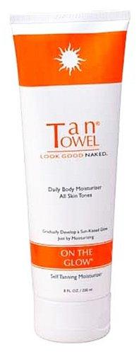TanTowel serviettes Tan Sur The Glow Hydratant Autobronzant (8 oz.)