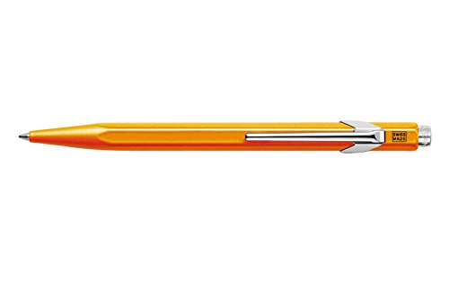 creative-art-materials-caran-dache-ballpoint-pen-metal-fluor-orange-849030-