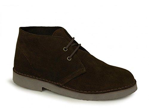 Roamers Unisexes Originaux En Cuir Suédé Desert Boots Brun Foncé, Brown (browns), 47 Eu