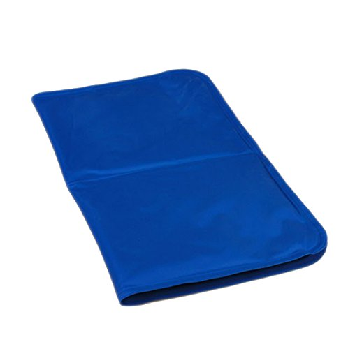 Pet Dog Cat Cooling Ice Pad Waterproof Dustproof Summer Blue