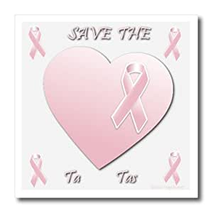 ht_158156_3 Edmond Hogge Jr - Save The Ta Tas Breast Cancer Design - Iron on Heat Transfers - 10x10 Iron on Heat Transfer for White Material