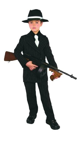 Thin Pinstriped Gangster Kids Costume (Water Related Halloween Costumes)