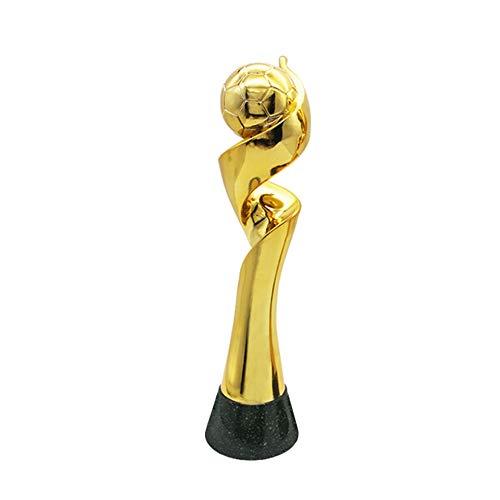 (Happy dumplings Women's World Cup Trophy, Football Fans Souvenir League Bonus 1:1 Custom Gold-Plated Resin Corrosion Resistant,Gold,14.96in3.62in )
