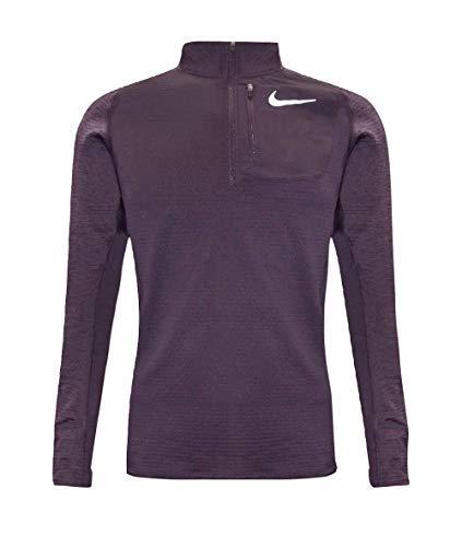 (Nike Therma Sphere Element Men's Long Sleeve Half-Zip Running Top (Purple, Medium) )