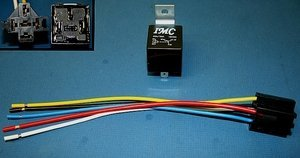 IMC Audio 30/40 AMP Relay Harness Spdt 12v Bosch Style - 10 Pack