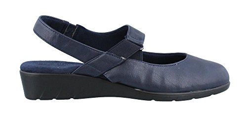 Easy Street Womens Chessa Closed Toe Casual Slingback Sandals, Navy, Size 7.5