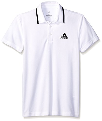 - adidas Men's Tennis Essex Polo Shirt, White/Black, Medium