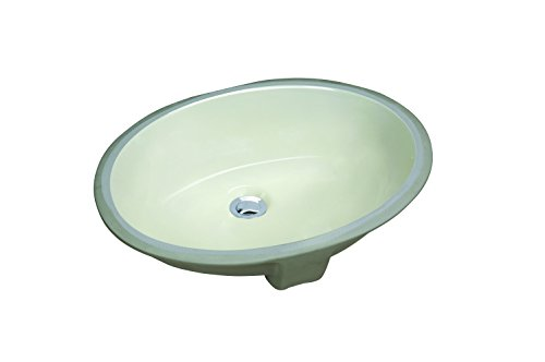 Biscuit 17 - CHANGIE Oval Undercounter Bathroom Ceramic Vanity Sink 1601B,Biscuit,17x14 inches