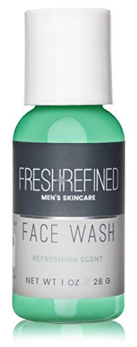 Fresh & Refined Mens Face Wash - Daily Facial Cleanser for Men - Perfect for All Skin Types - 1 oz
