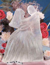 Sculpture Cream Ice (Reusable Bride & Groom Ice Sculpture Mold)