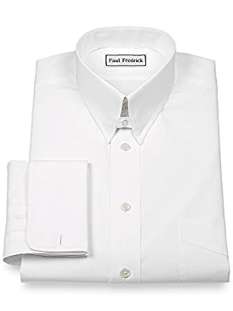 Paul Fredrick Men 39 S 2 Ply Cotton Snap Tab Collar French