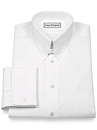 Paul Fredrick Men S 2 Ply Cotton Snap Tab Collar French Cuff Dress Shirt White 20 0 37 At Amazon