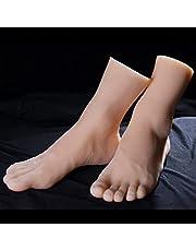 Echte-life Simulatie Vrouwelijke Voetmodel, Aanzienlijk Verminderen De Kosten Van Het Inhuren Echte Modellen, Display Sieraden Sandaal Schoen Sok Kunst Schets Voet Speelgoed (Grootte : Left foot)
