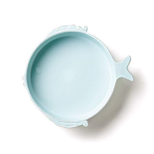Vietri Lastra Fish Aqua Medium Serving Bowl