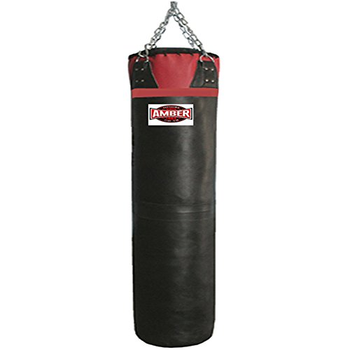 Amber Elite Fight Gear Synthetic Leather Heavy bag, 50 lb. (Leather Bag Synthetic Heavy)