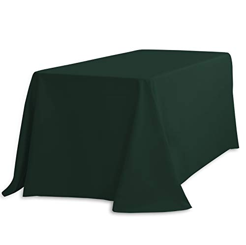 (LinenTablecloth 90 x 132-Inch Rectangular Polyester Tablecloth Hunter Green)