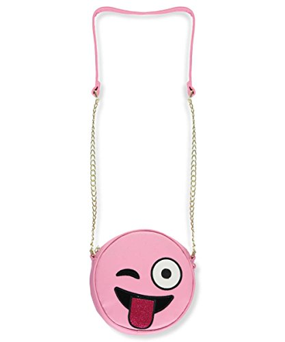 Olivia Miller Girl Tongue Out Emoji Crossbody Purse