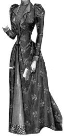 1895 House Gown for Elderly Lady Pattern, used for sale  Delivered anywhere in USA