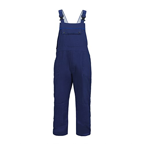 Classic Coverall (TOPTIE Men's Classic Bib Overalls With Multi-Compartment Bib Pockets-Navy-M)