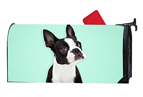 - Lovely Boston Terrier Greeting Animals Mailbox Cover Magnetic Holiday Standard Size - Home Garden Decor Mailbox Wraps with Animals Theme 6.5x19 inches